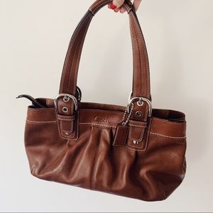 Coach Brown Leather Satchel